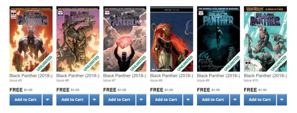 Quadrinhos gratuitos do Pantera Negra