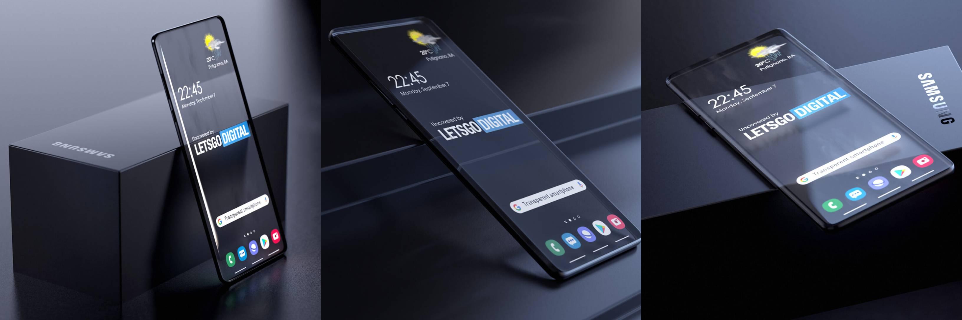 Samsung patenta un smartphone transparente y la idea es brutal