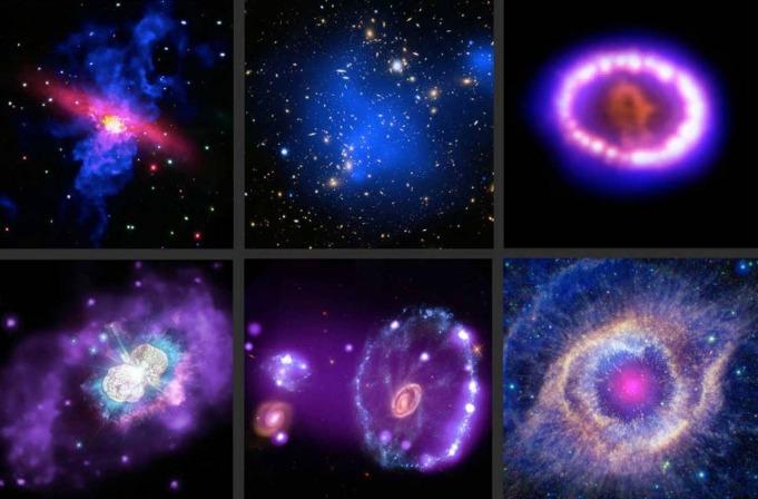 Imágenes del Observatorio Chandra, de la NASA.