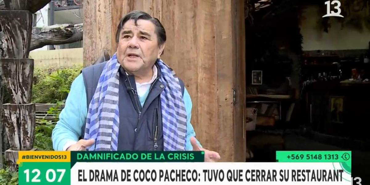 """Coco Pacheco cerró su reconocido restaurante producto del coronavirus: """"Tiré la toalla, me estaba desangrando"""""""