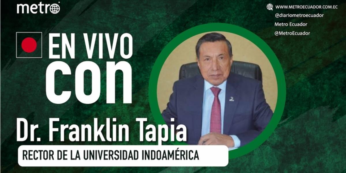 """Franklin Tapia: """"El esfuerzo en las aulas nos permitirá ser mejores personas"""""""