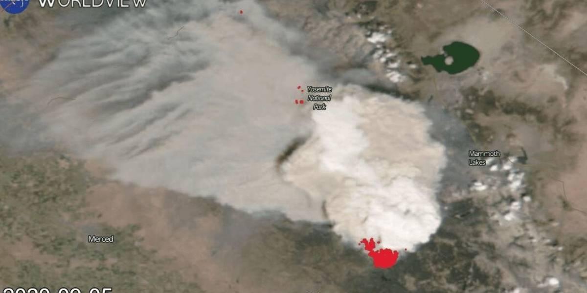 Ciencia.-Un incendio en California deja el mayor pirocúmulo visto en EEUU