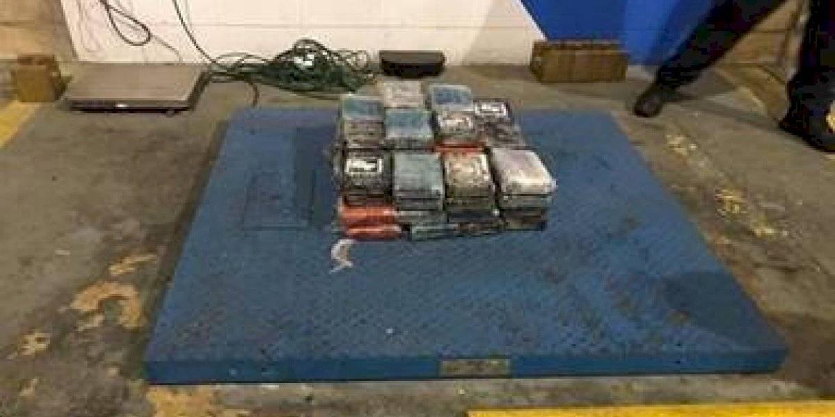 Incautan 61 kilos de cocaína escondidas dentro contenedor que llegó desde República Dominicana