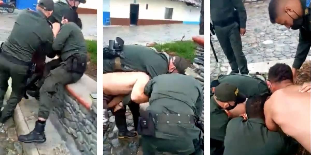 Revelan video de otro abuso policial contra un hombre por no llevar tapabocas