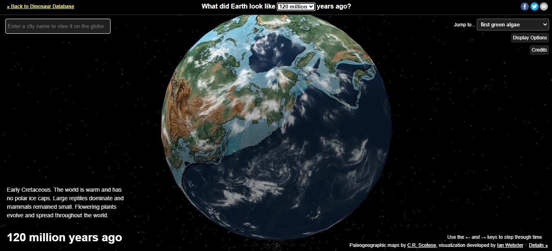 Planeta Tierra en la antigüedad.