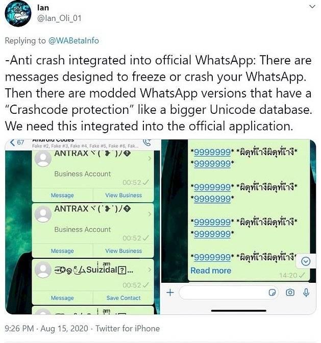 WhatsApp Cadena