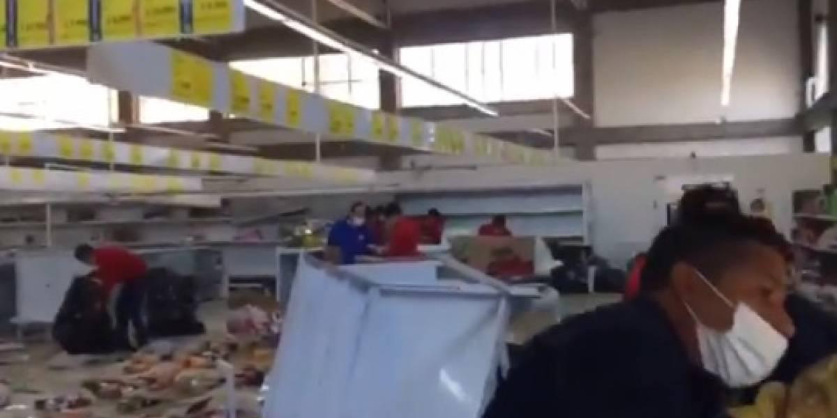 En medio de protestas, vándalos saquearon una tienda D1 en Suba