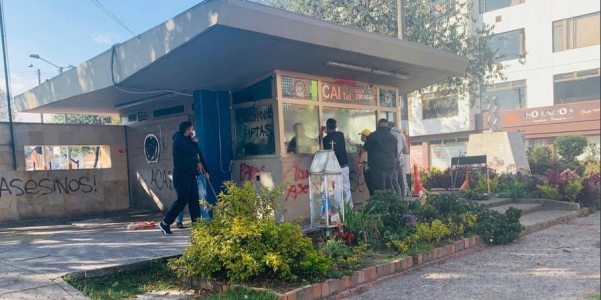 Con los CAI destruidos, ladrones se tomaron calles de algunos barrios de Bogotá