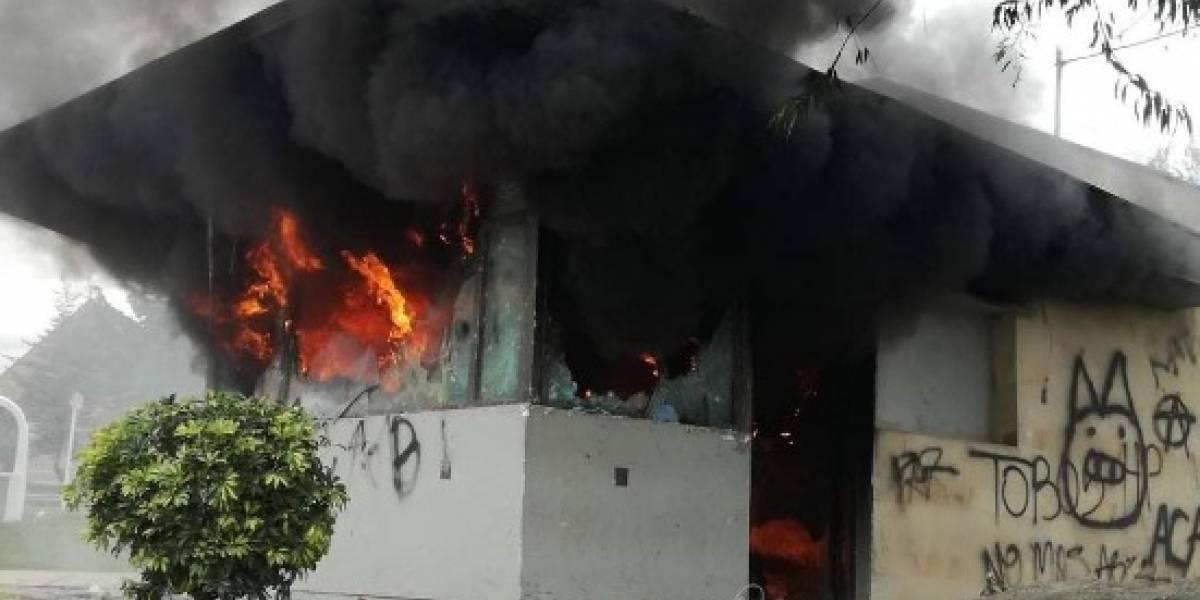 En nueva oleada de protestas, incendian CAI del Verbenal