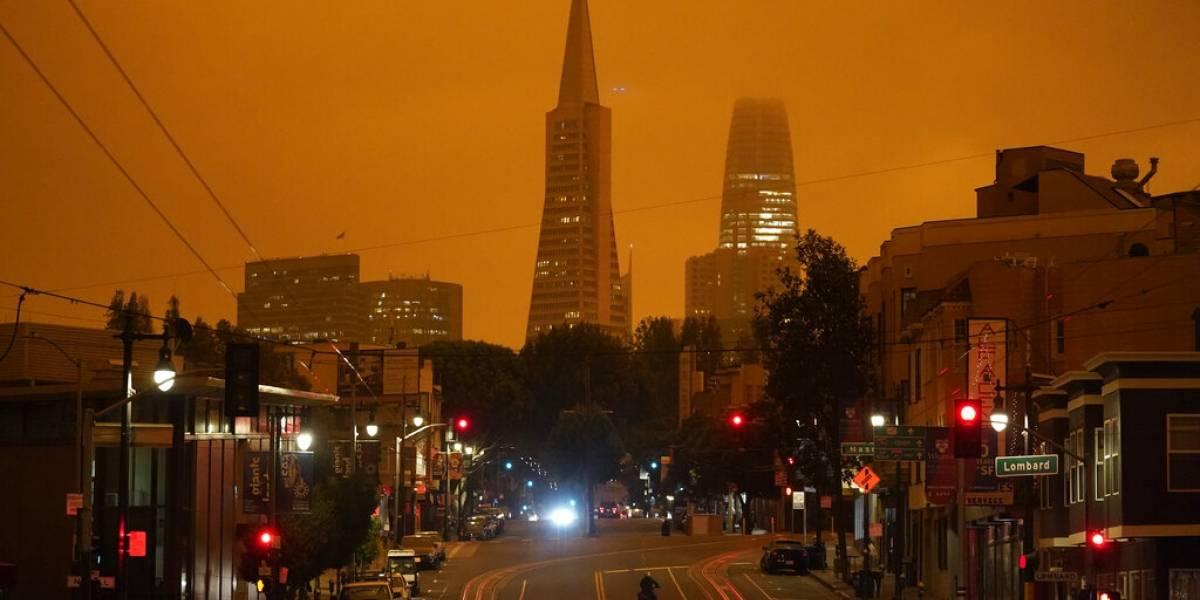 Las impresionantes imágenes del cielo anaranjado en San Francisco tras incendios forestales en California