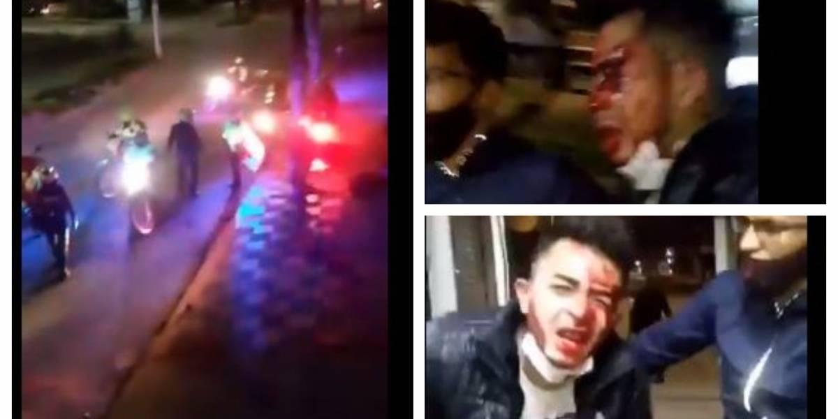 (VIDEO) Policías golpean en manada a joven que llegaba de trabajar y corrió por miedo, en Bogotá