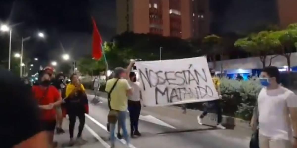 Esmad y la Policía dispersaron a manifestantes en protestas en Barranquilla