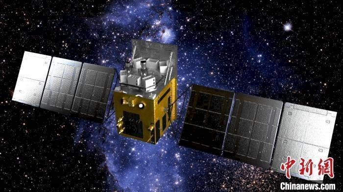 El satélite chino que detectó el campo magnético.
