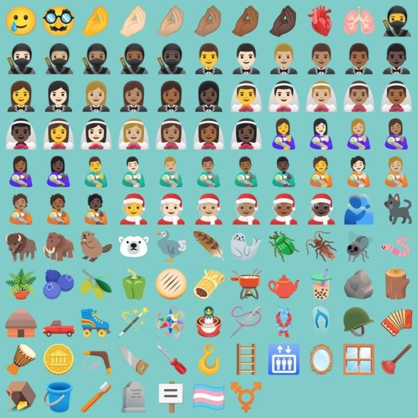 Android 11 emojis