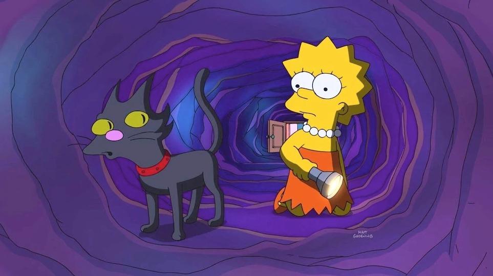 Los Simpson Bola de Nieve gato