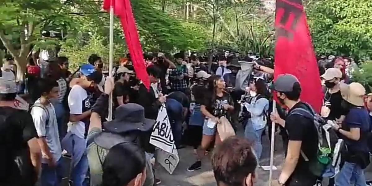 Iniciaron las protestas en contra de los abusos policiales este 11 de septiembre en Medellín