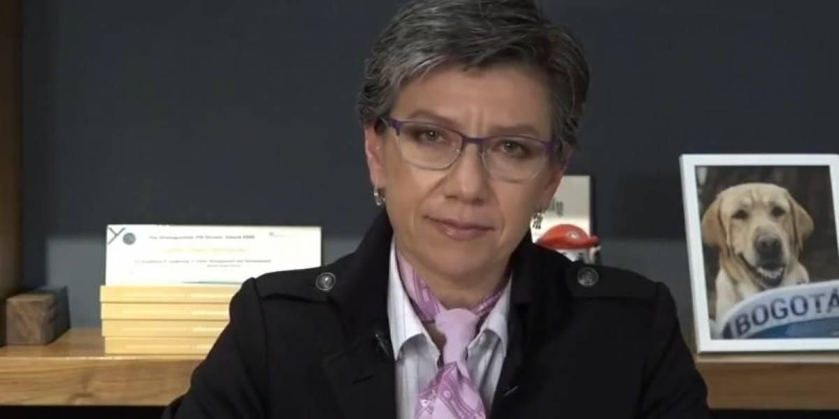 """Alcaldesa califica de """"auténtica masacre"""" las muertes en protestas en Bogotá"""