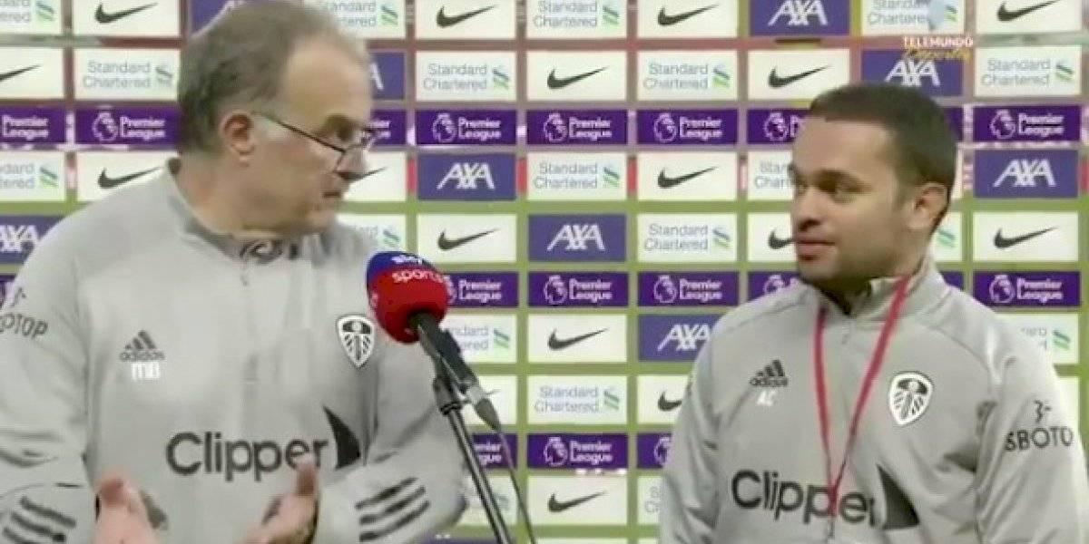 """""""Hable más fuerte"""": la reprimenda de """"Loco"""" Bielsa a su traductor tras la caída del Leeds United"""