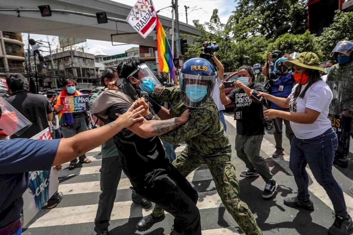 Philippines Pride Protesters Arrested (GERARD CARREON)