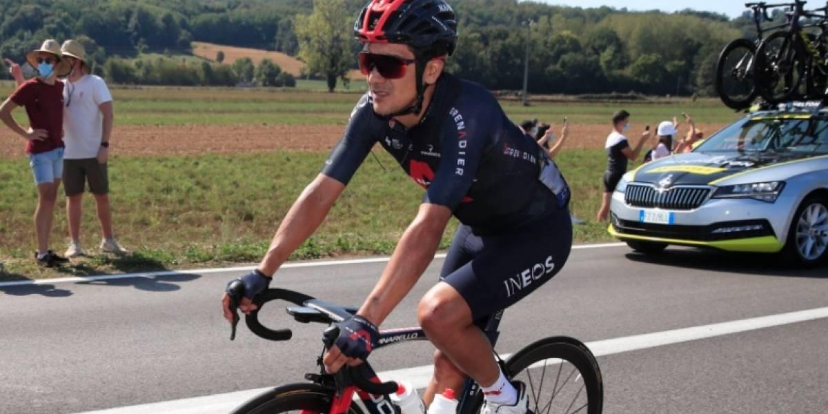 """""""Al mal tiempo, buena cara"""": el mensaje de Richard Carapaz tras su caída en el Tour de Francia"""