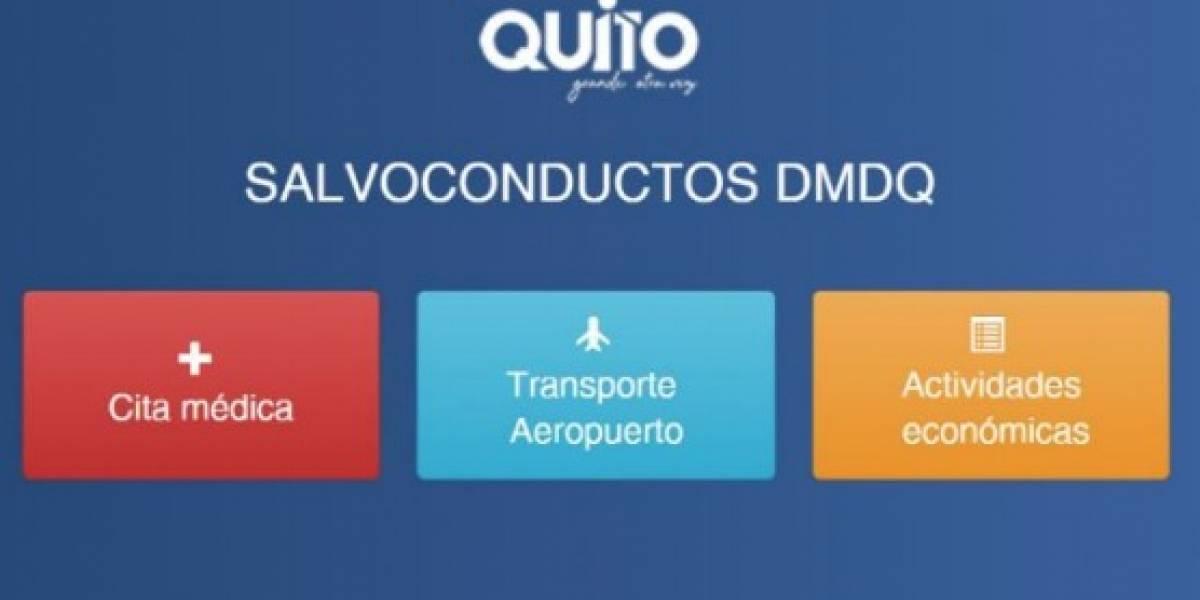 Usuarios reportan problemas en la página de salvoconductos en Quito