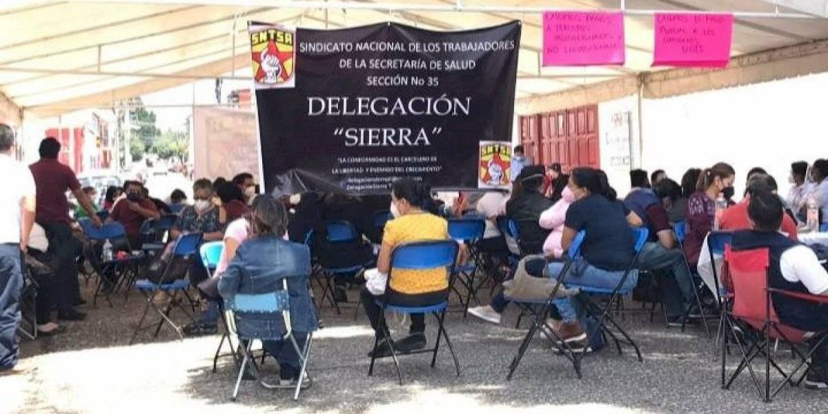 Integrantes de la Jurisdicción Sanitaria, exigen insumos contra Covid-19 en Oaxaca