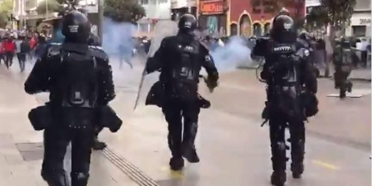 """La justificación de Claudia López para disolver marcha en el centro """"con gases"""" de la Policía"""
