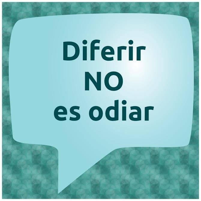 diferir no es odiar
