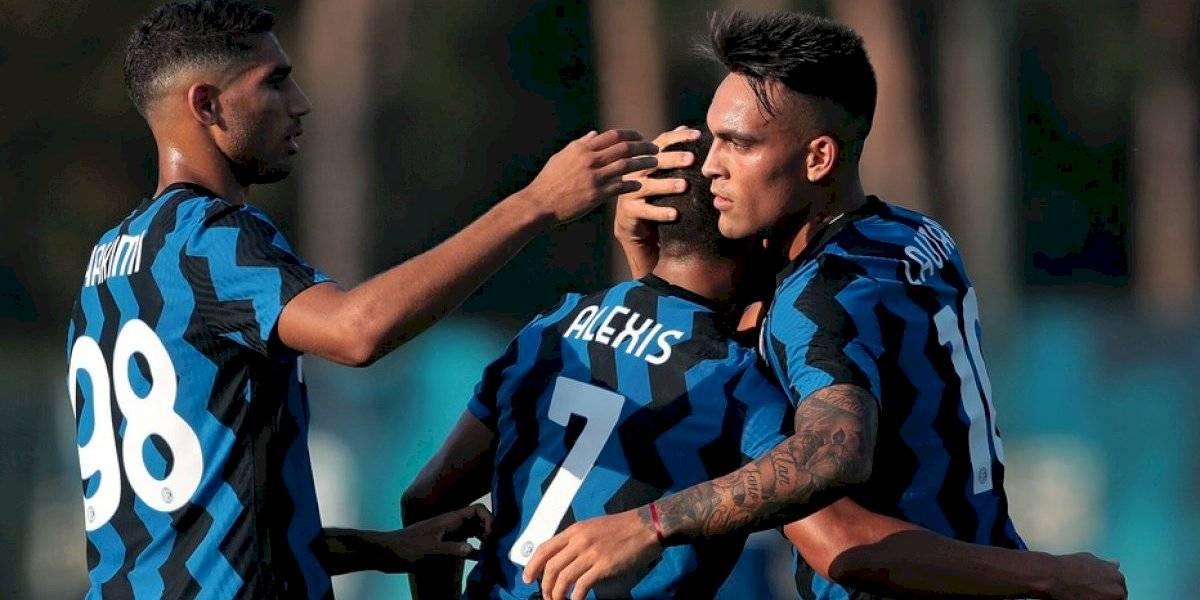 Alexis la rompió en amistoso del Inter con dos asistencias para Lautaro en apenas un tiempo