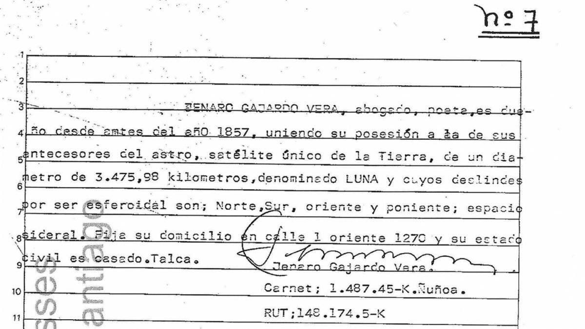 Jenaro Gajardo, dueño de la Luna