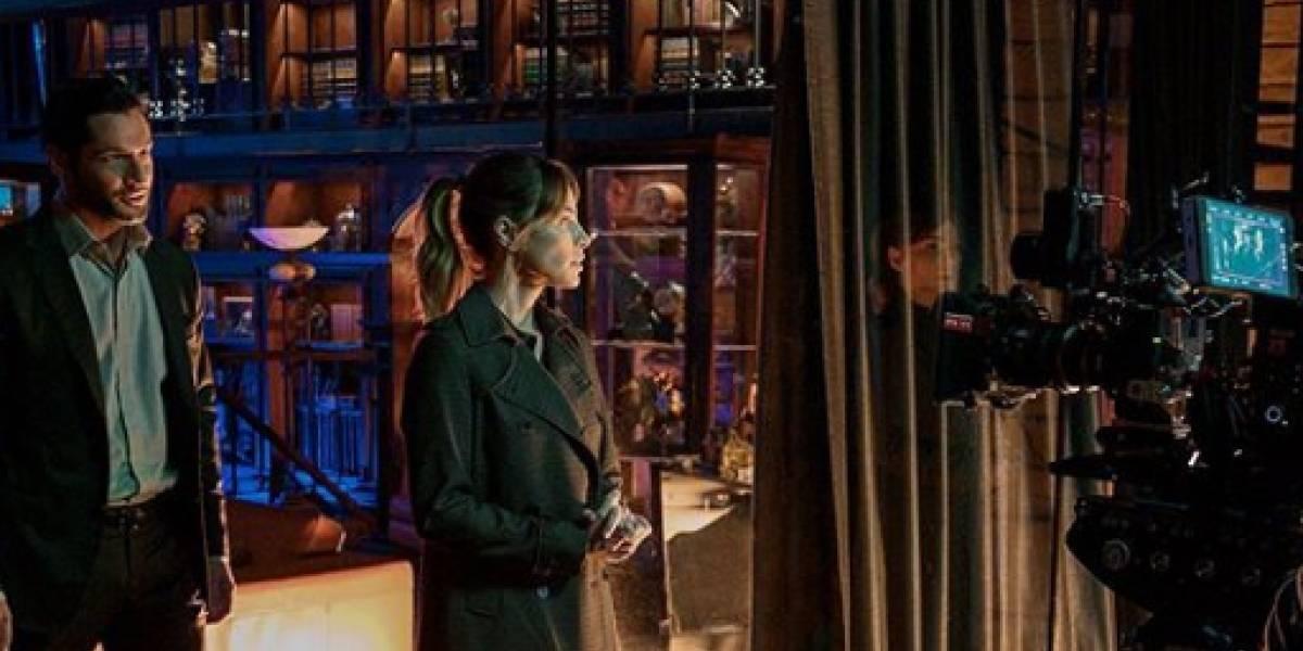 Aquí los tras cámaras del rodaje de la segunda parte de la quinta temporada de Lucifer