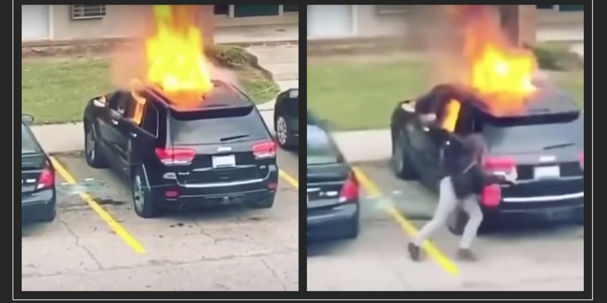 Quemó el auto de su pareja por supuesta infidelidad y esto fue lo que le sucedió