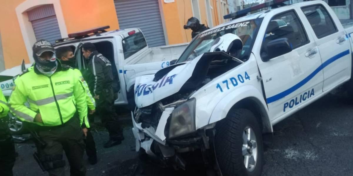Persecución ininterrumpida a delincuentes en Quito dejó a cinco policías con golpes