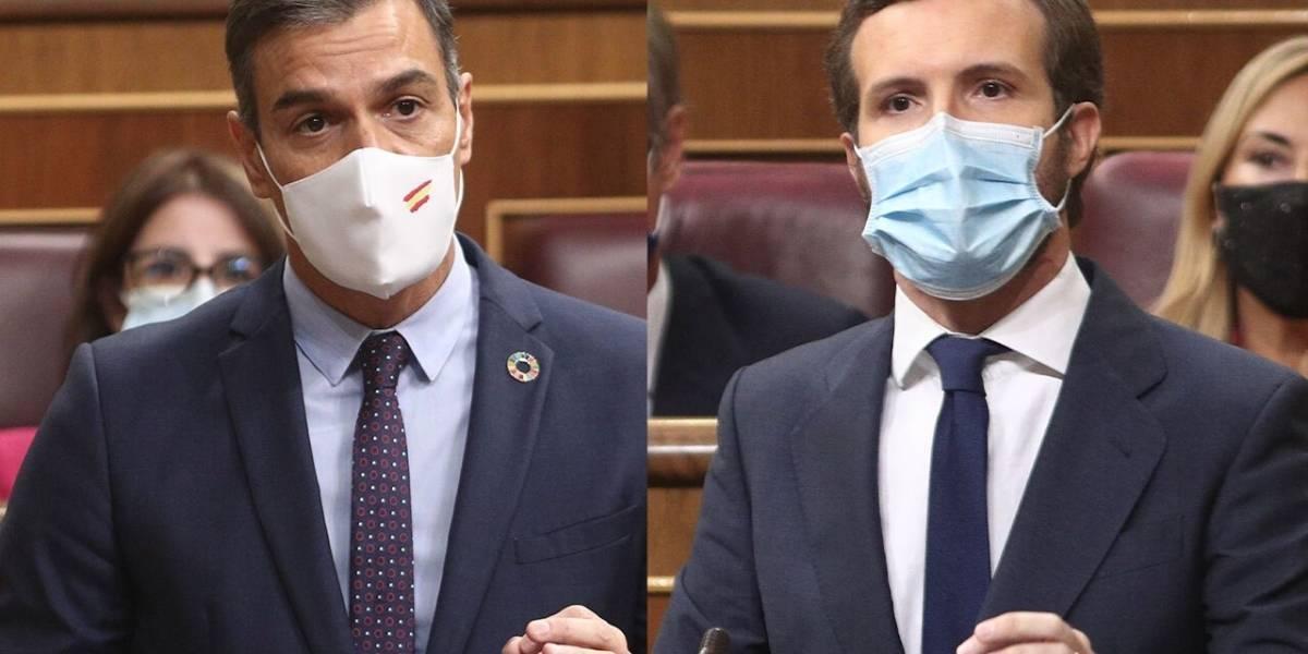 """España.- Sánchez ataca a Casado con la """"corrupción del PP"""" y éste le acusa de usar la Fiscalía como """"comisaria política"""""""