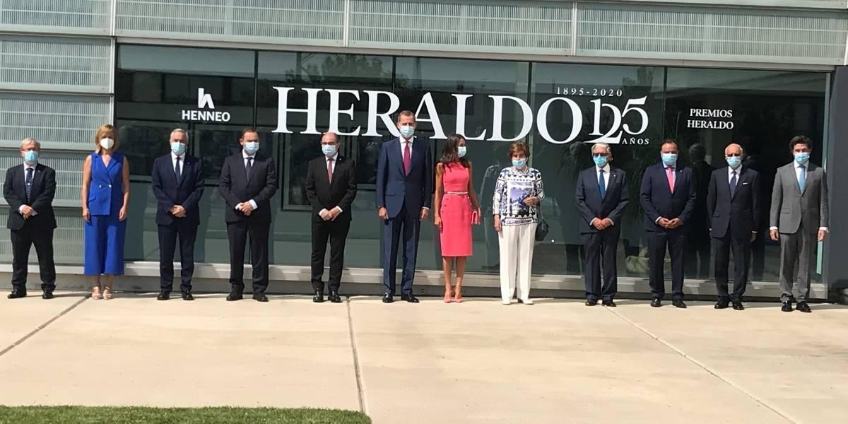 Rey Felipe.- Los Reyes destacan el compromiso de Heraldo de Aragón con la libertad y los ciudadanos en su 125 aniversario