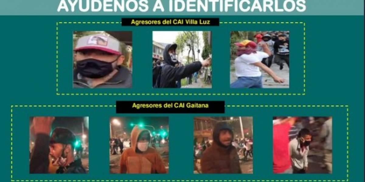Este es el cartel de los buscados por dañar CAIs en Bogotá