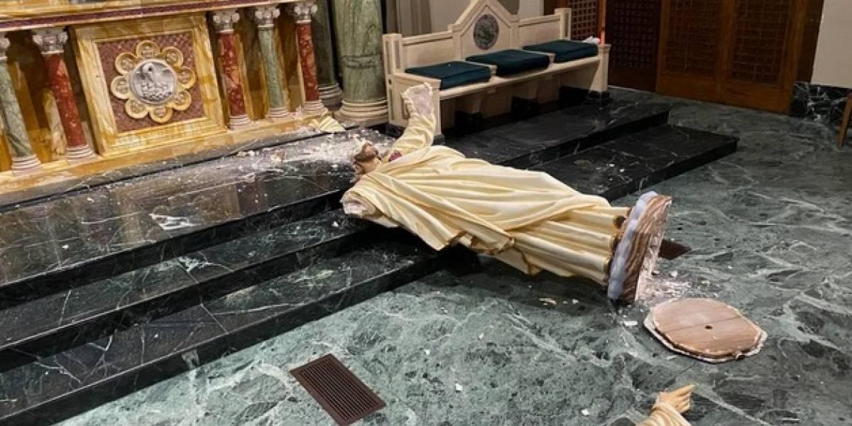 Vandalizan y destruyen altar de Catedral de San Patricio