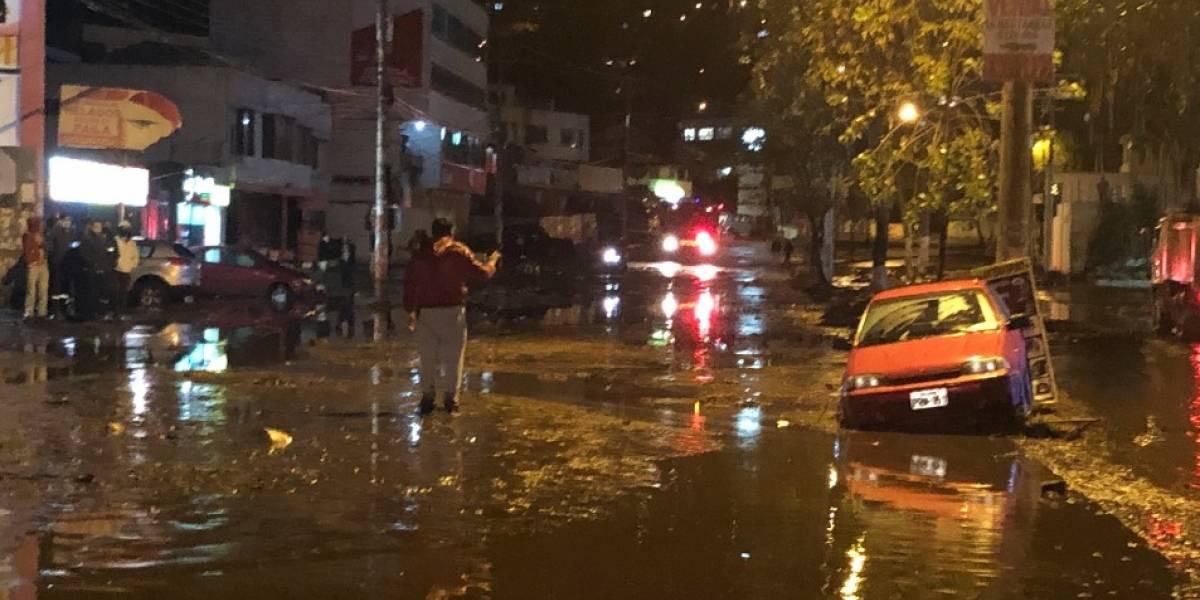 Jorge Yunda confirma que no existen heridos tras inundación en Pomasqui