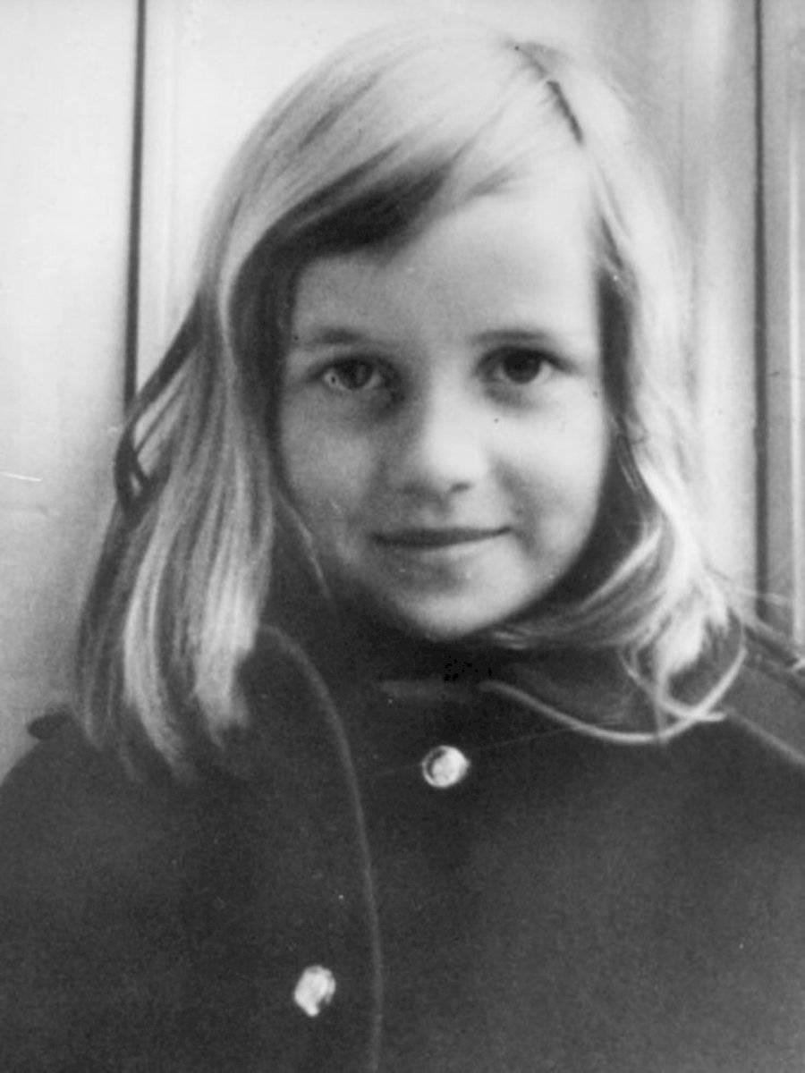 La princesa Diana de niña