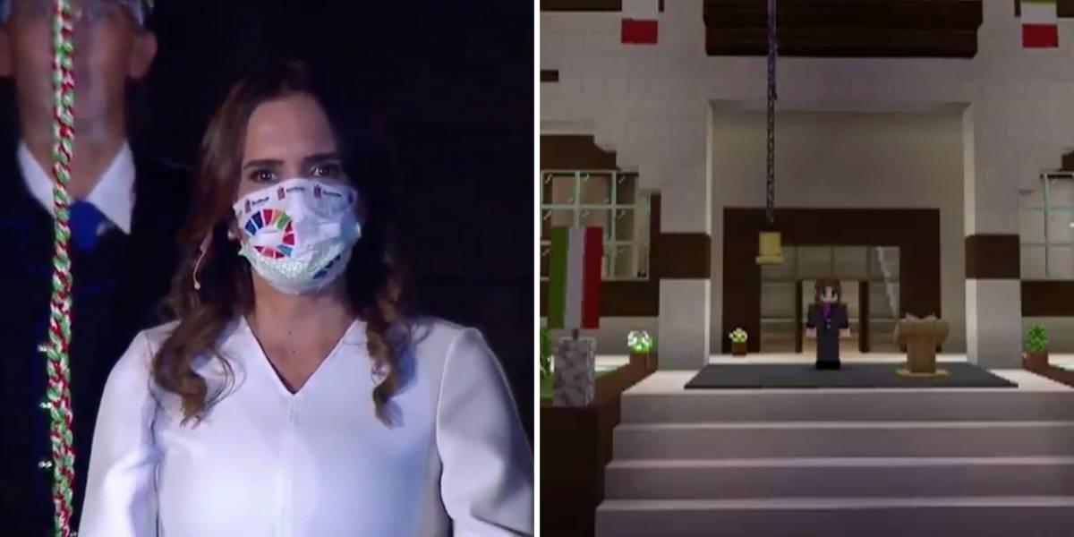 Clara Luz Flores, alcaldesa de Escobedo, da el Grito por Minecraft