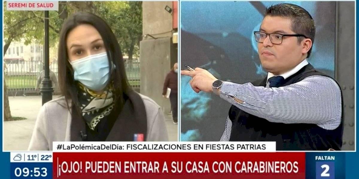 """""""No soy abogada"""": el intenso debate entre Paula Labra y Rodrigo Logan por las fiscalizaciones en Fiestas Patrias"""