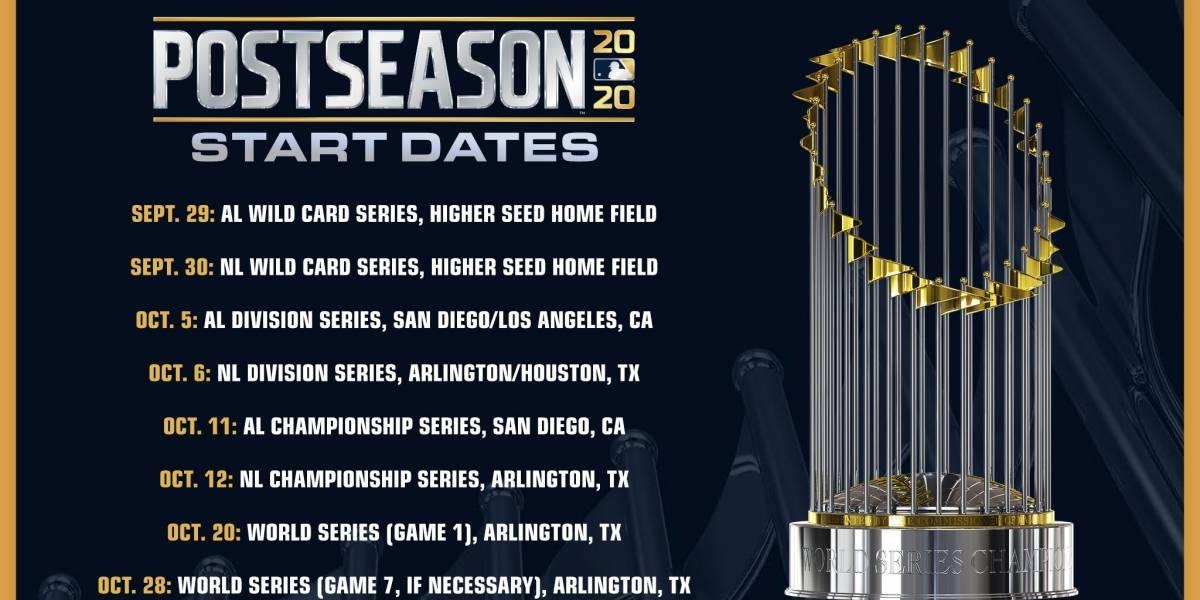 MLB: Ya hay fecha para postemporada