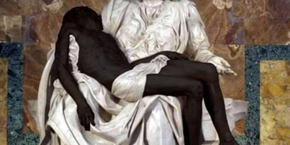 Foto de Pietà com 'Jesus Negro' acaba em discussão na internet