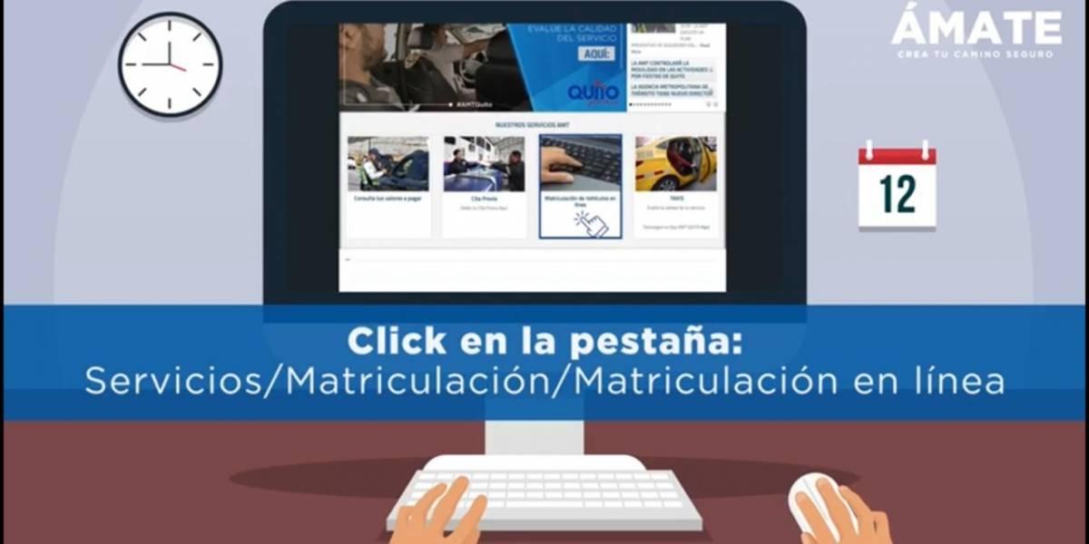 Sistema de matriculación vehicular en línea en Quito será permanente, según director de la AMT