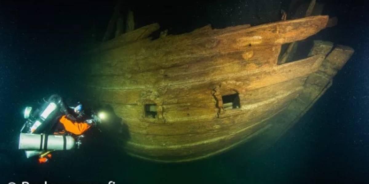 Este es el sorprendente estado en el que se encuentra un barco hundido del siglo XVII