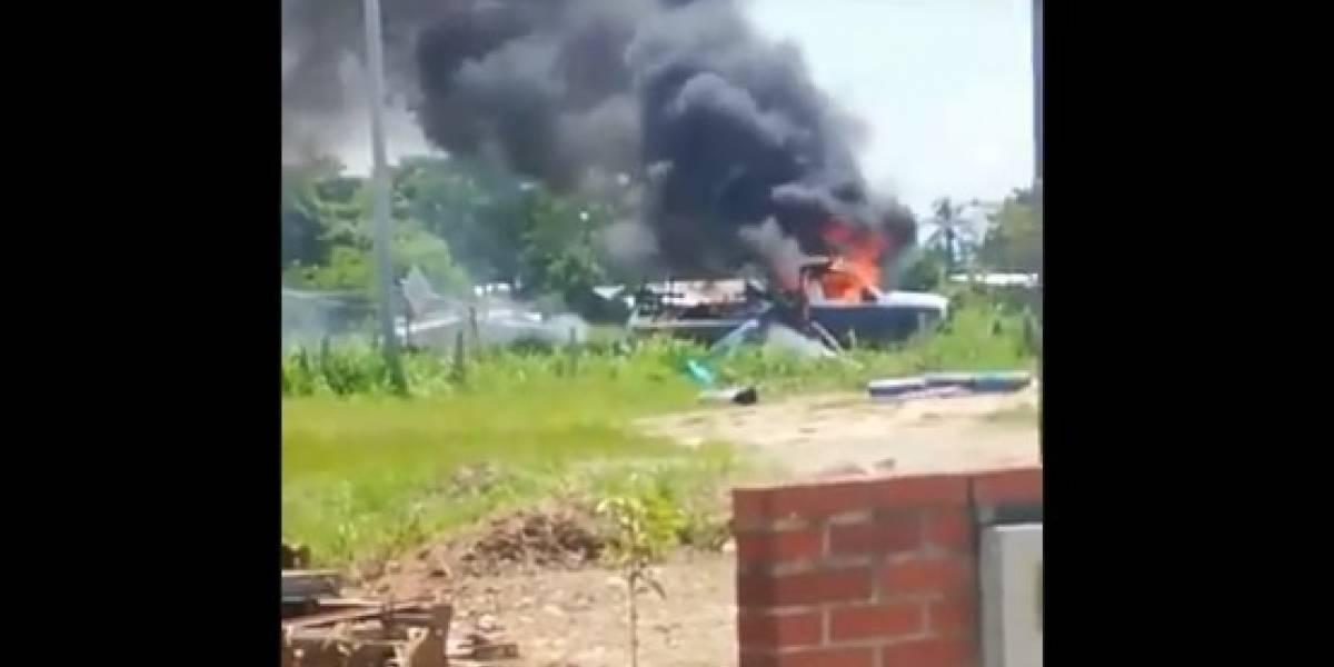 Explosión de camión con carga peligrosa alerta a todo un departamento