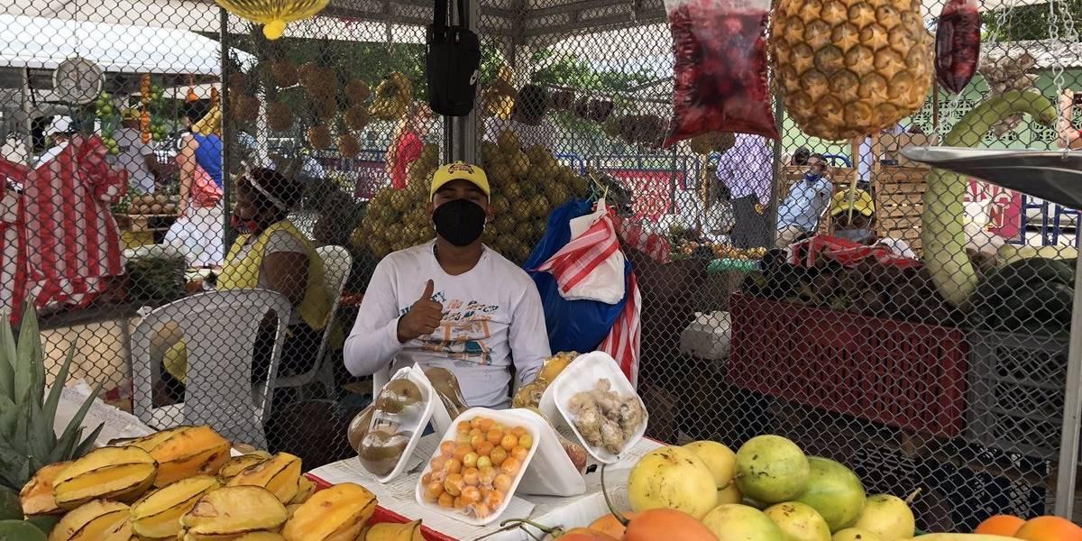 Fotogalería: El mercado rodante en Barranquilla en medio de la pandemia