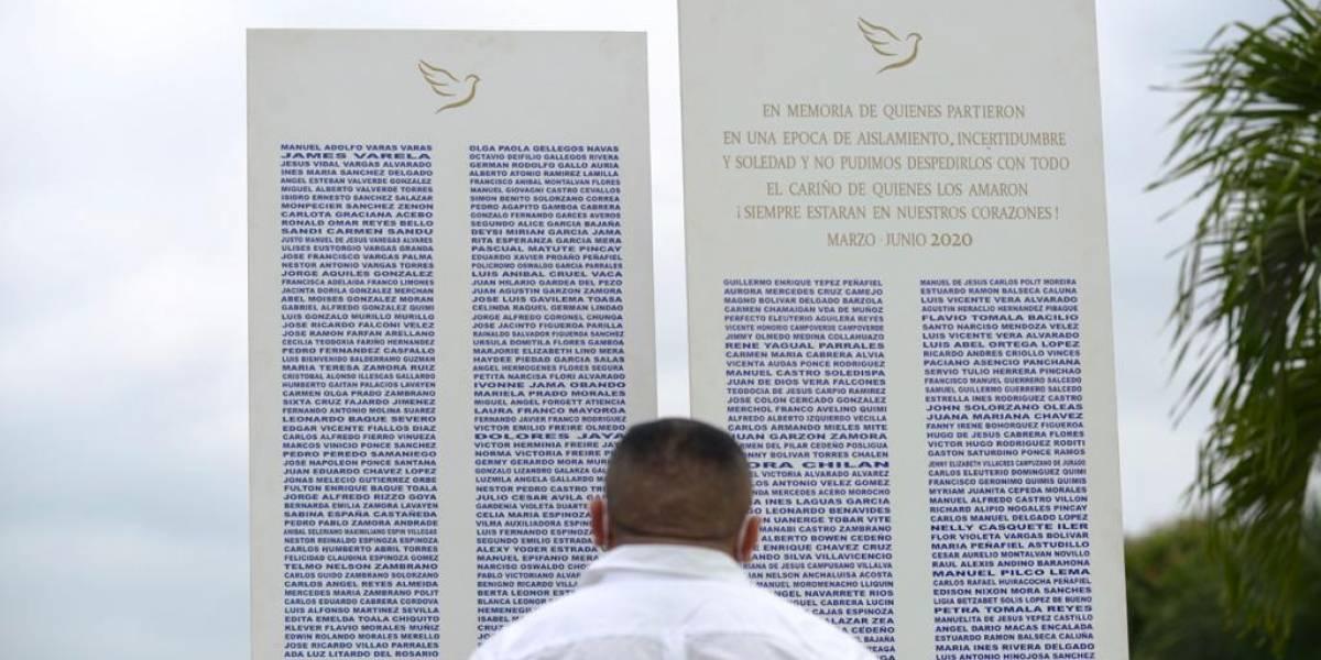 Así es el memorial en honor a las víctimas de COVID-19 en Guayaquil