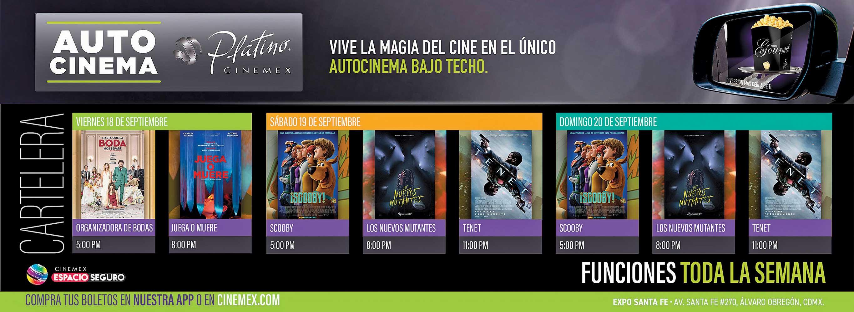 Anuncio Cinemex edición CDMX del 18 de Septiembre del 2020, Página 08