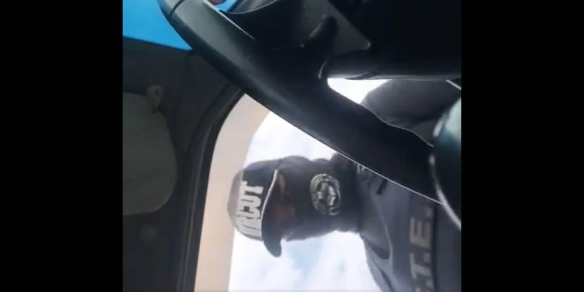 """""""Deme 50 y vaya"""": Investigan presunta extorsión de vigilante de la CTE a conductora en El Oro"""